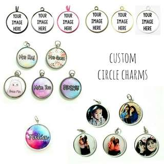 Customized Circle Charms