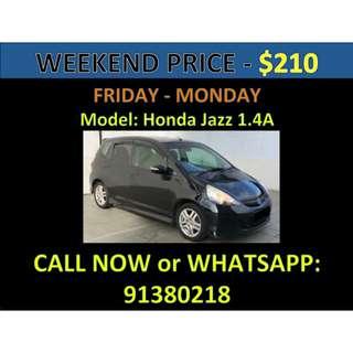 Honda Jazz Weekend Car Rental March