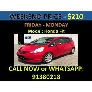 Honda Fit 1.3A Weekend Car Rental March