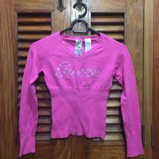 Guess Pink V-Neck Longsleeves