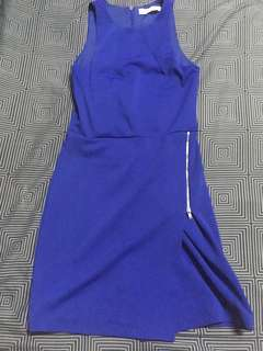 Royal blue body fit dress