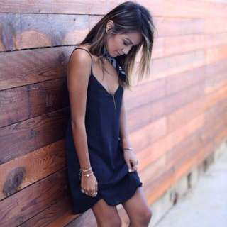 Minimalistic Chic on a strappy dress