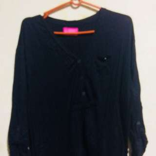 Herbench Black Blouse Plus size