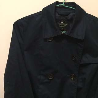 🚚 藏青深藍色風衣外套