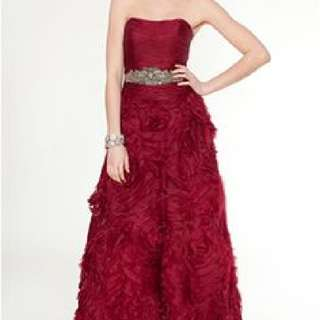 Teri Jon Red Evening Gown