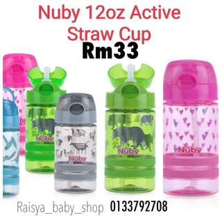 Nuby straw bottle