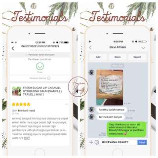 TESTIMONI @HERVANA.BEAUTY - WE ARE TRUSTED!