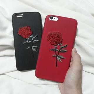 Embroidered Roses iPhone 6 Plus cases