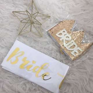 Bride To Be Sash set