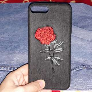 iPhone 7 Embroidered Rose Case