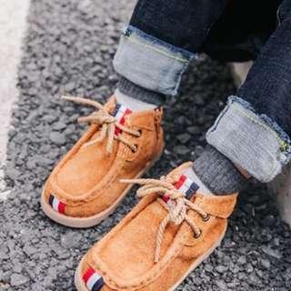 🚚 男童鞋 內刷毛 黑色內長14cm 咖啡內長16cm