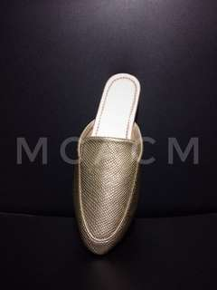 Gold Leather Mule