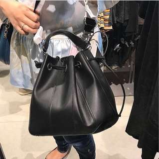 Original Zara Top Stiching Bucket Bag