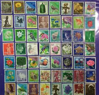 56 pcs Japan Nippon Used Stamps