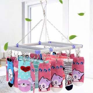 Aluminium Socks/ Handkerchiefs/ Underwears Hanger With 28 Clips