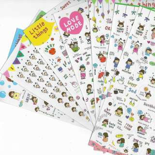 Korean Stickers Little Things Version