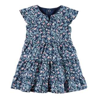 AUTHENTIC CARTER'S Floral Twill Dress