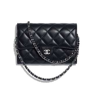 Chanel clutch with chain