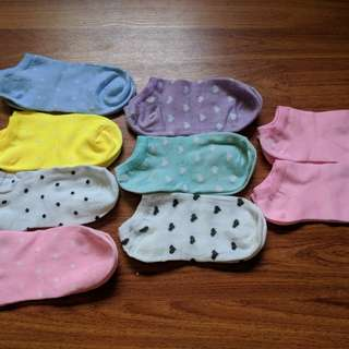 NEW Cute Patterned Colourful Ankle socks Set of 9 pairs