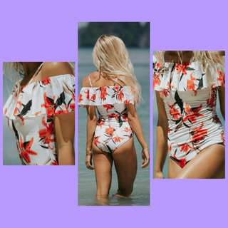 Bc:one piece floral swimsuit