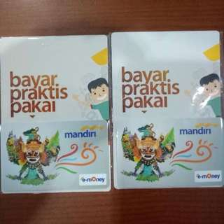 Kartu e tol card e toll e money e toll mandiri emoney etol e money mandiri