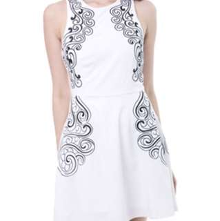 MDS panel embroidered dress