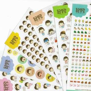 Korean Stickers Little Girl Version