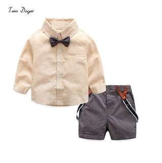 Boys Long sleeve shirt and pants set