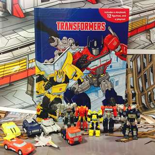 BN: Transformers My Busy Book including 12 figurines, and a playmat