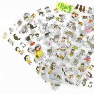 Korean Stickers Gray Cat Version