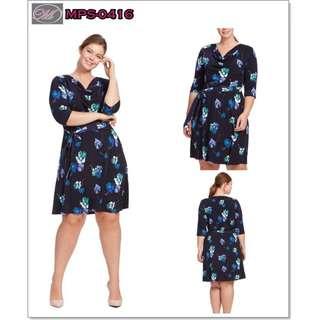 CODE: MPS-0416 Plus Size Floral Dress