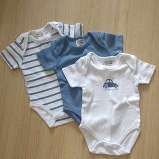 3 pieces baby rompers (new)