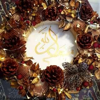 Wreath with Fairy Lights