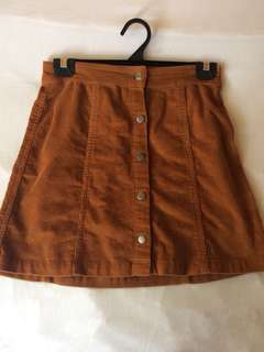 Retro Corduroy Skirt