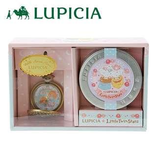日本代購 sanrio 專門店 2018年 2月 little twin stars x Rupicia  懐中時計 和玫瑰紅茶