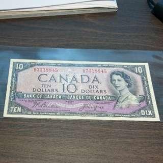 1954 Canada $10 Devil's Face