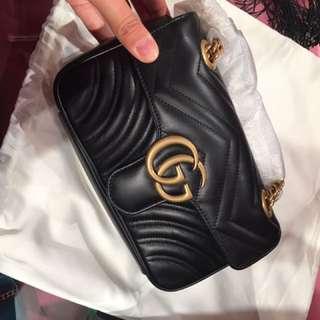 Gucci gg marmont 黑色 22cm