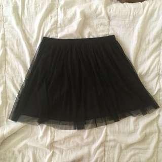 Black Tulle Skirt - Forever21