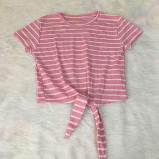 Pink Stripes Tie-Me