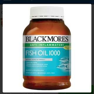 Blackmore Fish Oil 400 capsules 魚油丸400粒網購自澳洲