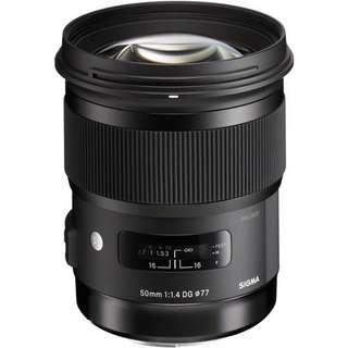 Sigma 50mm f/1.4 DG HSM Art Lens (Canon/ Nikon/ Sony)