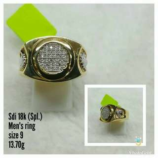 18K SAUDI GOLD SPL MEN'S RING ..,,