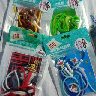 Character designed Cord winder protector 1 set