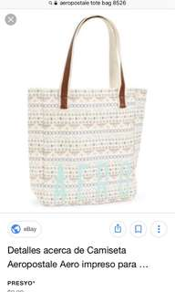 Aeropostale tote bag and wallet