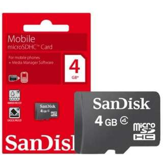 Sandisk 4GB Micro SD Card ( For 10 pieces $28 )