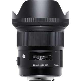 Sigma 24mm f/1.4 DG HSM Art Lens (Canon/ Nikon)