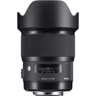 Sigma 20mm f/1.4 DG HSM Art Lens (Canon/ Nikon)