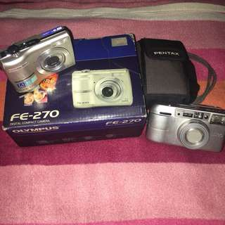 OLYMPUS FE-270 Digital Camera comes with FREE PENTAX Camera