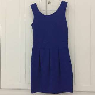 Preloved Blue Electric Dress