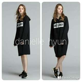 🐬Hoodie black dress